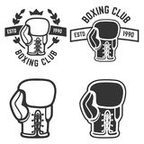 Set of boxing club emblems templates  on white backgroun Stock Image