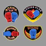 Set boxing emblem.  Vector illustration Royalty Free Stock Photography