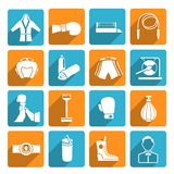 Set of boxing icons Royalty Free Stock Photos