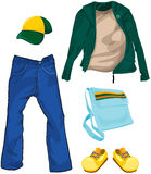 Set of boy casual clothes Stock Photo