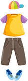 Set of boy clothes. Illustration of isolated set of boy clothes on white Royalty Free Stock Image