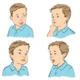 Set boy emotions Stock Image