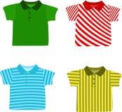 Set of Boy's shirts. Vector illustration Stock Photography