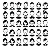 Set of boys and girls avatars and operator icons. Royalty Free Stock Images