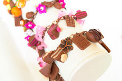 A set of bracelets from polymer clay Stock Images