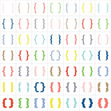 Set of braces or curly brackets icon. Vector Stock Photos