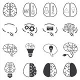 Set of brain icon Royalty Free Stock Image