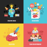 Set Of 2x2 Brainstorm Compositions Royalty Free Stock Image