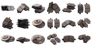 Set of brake pad for car isolated on white stock photo