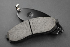 Set of brake pads. Maintenance spares for car Royalty Free Stock Photo