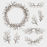 Set of branches stock illustration