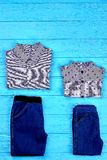 Set of brand clothes for boys. Stock Images