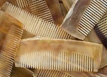 Set of  hand made horn comb Royalty Free Stock Images