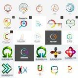Set of branding company logo elements Stock Photo