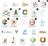 Set of branding company logo elements Stock Images