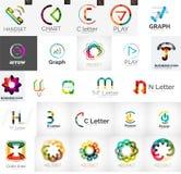 Set of branding company logo elements Stock Images