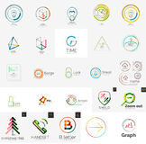 Set of branding company logo elements Stock Photography