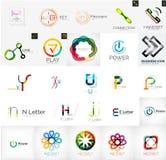 Set of branding company logo elements Royalty Free Stock Photo