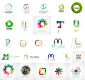 Set of branding company logo elements. Abstract business icons Royalty Free Stock Photography