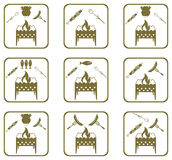 Set of Braziercooking  icons Stock Photo
