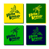 Set of brazil cards with logo Royalty Free Stock Photo