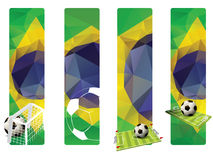 Set of Brazil concept color banners Royalty Free Stock Photography
