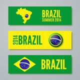 Set of Brazil concept color banners Stock Image