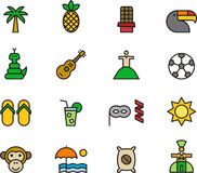 Set of Brazil related icons Stock Image