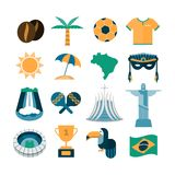 Set of Brazilian icons Stock Photography