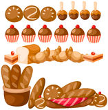 Set of bread Royalty Free Stock Photos