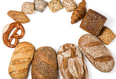Set of bread, above view Stock Photography