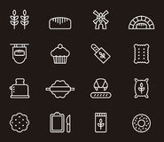 Set of bread and bakery icons Stock Photo
