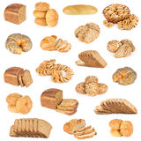 Set of bread and buns Royalty Free Stock Photography