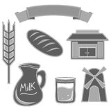 Set of Bread icon Stock Images
