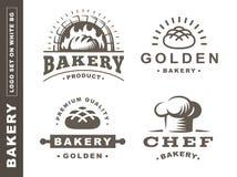 Set bread logo - vector illustration. Bakery emblem on white background. Set bread logo - vector illustration. Bakery emblem design on white background royalty free illustration