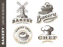 Set bread logo - vector illustration. Bakery emblem on white background. Set bread logo - vector illustration. Bakery emblem design on white background vector illustration