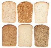Set bread slice Stock Photography