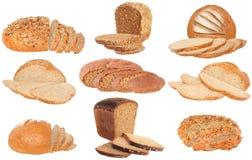 Set bread slice Stock Photo