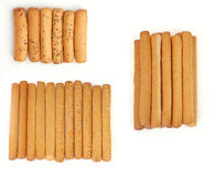 Set of Bread Sticks with different flavors Royalty Free Stock Image
