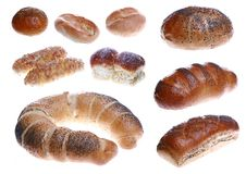 Set of bread-stuffs Royalty Free Stock Image