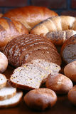 Set of bread-stuffs Royalty Free Stock Photo