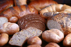 Set of bread-stuffs Royalty Free Stock Images