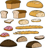 Set bread Royalty Free Stock Photography