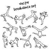Set of break dancers Stock Photo