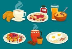 Set Of Breakfast Cartoon Icons Stock Photo