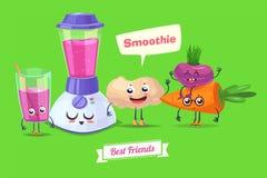 Set of breakfast characters. Vector cute cartoons Stock Images