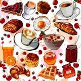Set of breakfast food Stock Image
