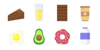 Set of breakfast icons vector illustration
