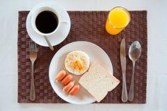 Set of breakfast tableware. With american breakfast set Royalty Free Stock Photo