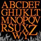 Set brennende Zeichen getrennt stock abbildung
